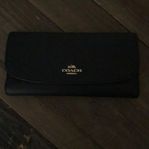 Coach Pebble Leather Wallet Checkbook